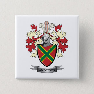Andrews Family Crest Coat of Arms 15 Cm Square Badge
