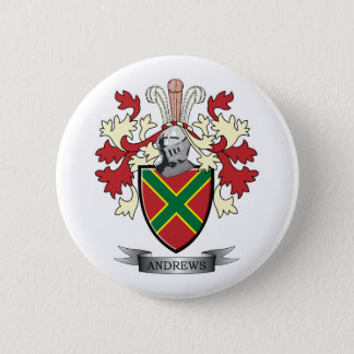 Andrews Family Crest Coat of Arms 6 Cm Round Badge
