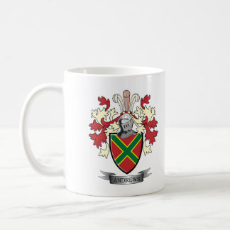Andrews Family Crest Coat of Arms Coffee Mug
