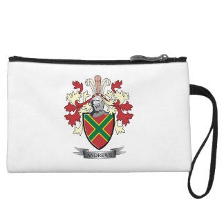 Andrews Family Crest Coat of Arms Wristlet