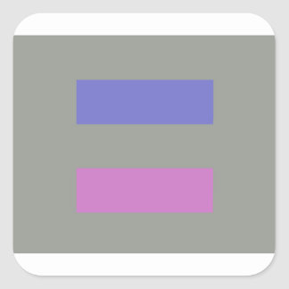 androgynous square sticker