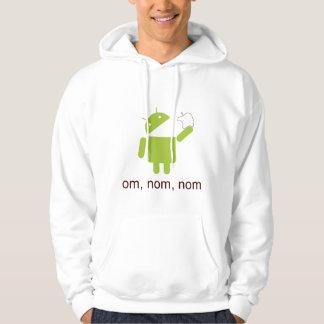 android > apple (light hoodie) hoodie