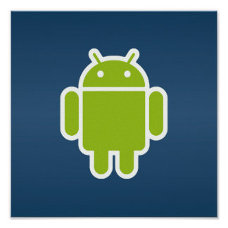Android Blue Poster