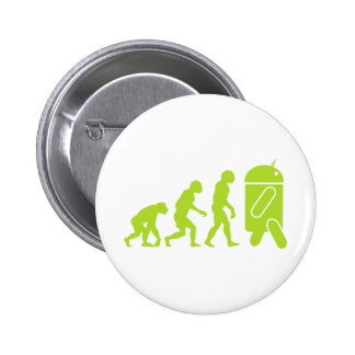 Android Evolution 6 Cm Round Badge