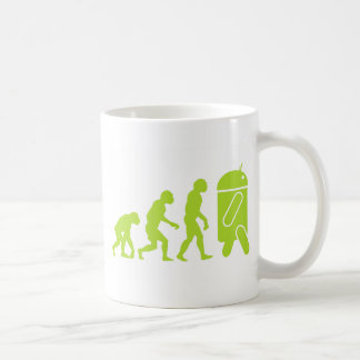 Android Evolution Classic White Coffee Mug