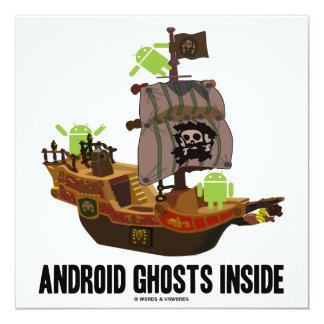 Android Ghosts Inside (Software Developer Humor) 13 Cm X 13 Cm Square Invitation Card