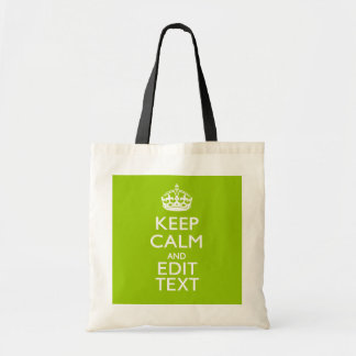 Android Green Decor Keep Calm And Your Text Tote Bag