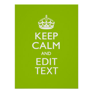 Android Green Style Keep Calm And Your Text Poster