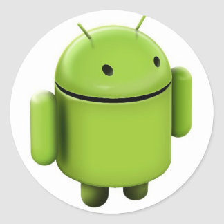 Android logo classic round sticker