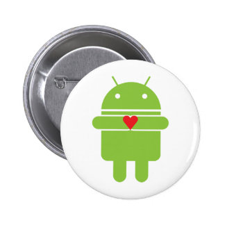 Android Love 6 Cm Round Badge