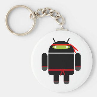 Android Ninja Basic Round Button Key Ring
