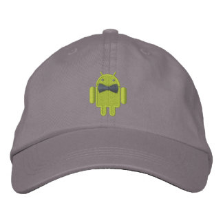 Android Robot Formal Gala Bowtie Embroidery Embroidered Hat