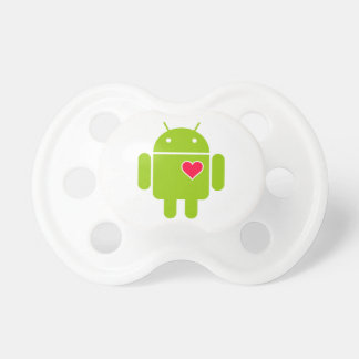Android Robot Icon with a Heart Dummy