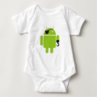 Android Robot Pirate Style Baby Bodysuit