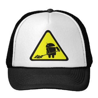 Android under construction trucker hat