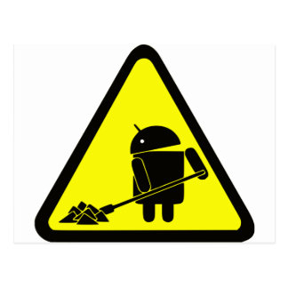 Android under construction postcard