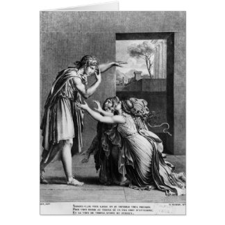 Andromache at the feet of Pyrrhus Card