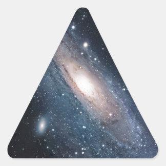 andromeda galaxy milky way cosmos universe triangle sticker