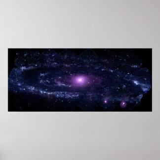 Andromeda in Ultraviolet Poster