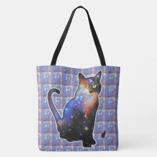 """""""Andromeda"""" Space In Cat Tote Bag"""