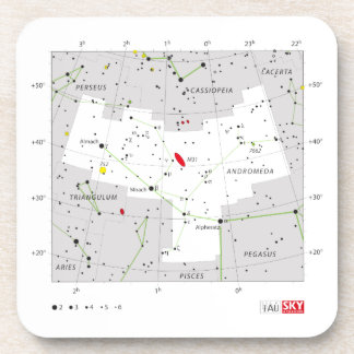 Andromeda Star System Constellation Chart Beverage Coasters