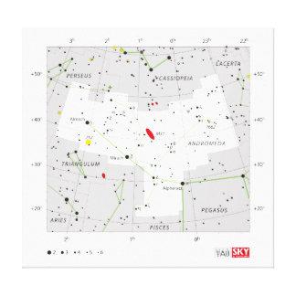 Andromeda Star System Constellation Chart Canvas Print