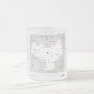 Andromeda Star System Constellation Chart Frosted Glass Coffee Mug