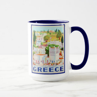 Andros Greece set of 8 different mugs of Greece