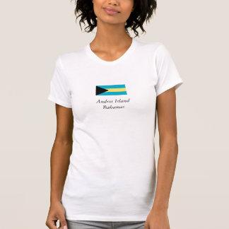 Andros Island, Bahamas Flag T-Shirt
