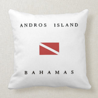 Andros Island Bahamas Scuba Dive Flag Throw Pillows