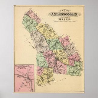 Androscoggin Co, Maine Poster