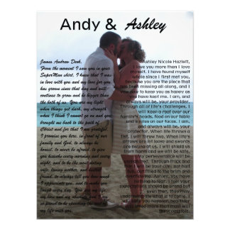 Andy & Ashley, wedding pic with vows Photo