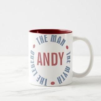 Andy Man Myth Legend Customizable Two-Tone Coffee Mug