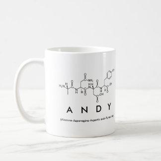 Andy peptide name mug