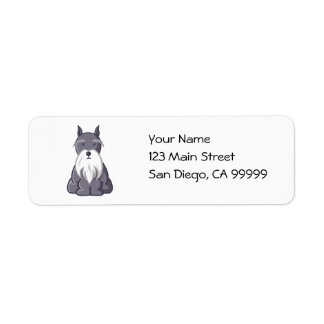 Andy Rooney Schnauzer Return Address Label