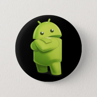 Andy the Android with Attitude Button! 6 Cm Round Badge
