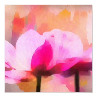 anemone abstract flower card