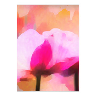 Anemone abstract flower magnetic invitations