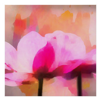 anemone abstract flower poster