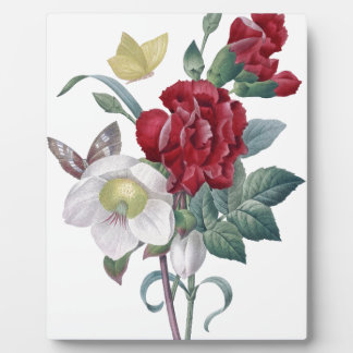 anemone and carnations bouquet plaque