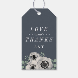 Anemone and Eucalyptus Wedding Favor Thank You Gift Tags