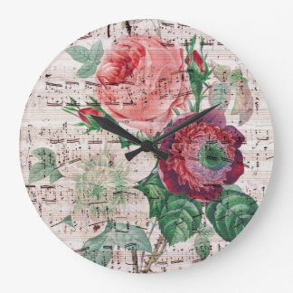 Anemone and Music Wall Clock