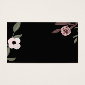 Anemone and peonie on business cards