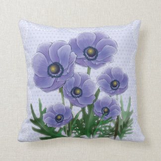 Anemone floral pillow