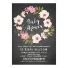 Anemone Floral Wreath Baby Shower Invitation