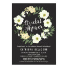Anemone Floral Wreath Bridal Shower Invitation