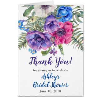 Anemone Flower Bridal Shower Thank You