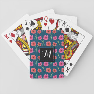 Anemone Flower Watercolor Painting Pattern Playing Cards