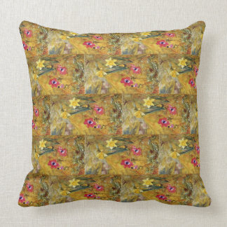 Anemones and Daffodils Henry Newman Cushion