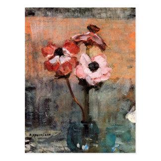 Anemones in a Vase   Piet Mondrian Postcard
